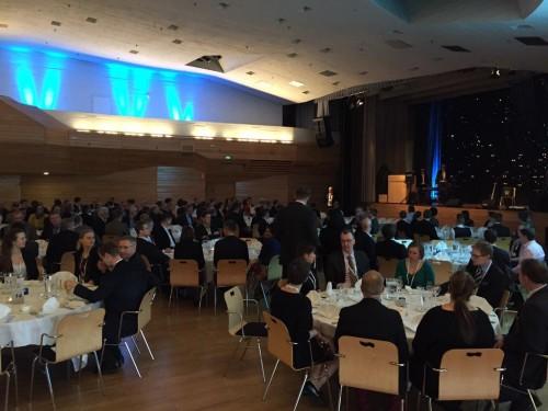 Maanmittauspäivien 2015 iltajuhlaa vietettiin perjantaina17.5.2015 Espoon Dipolissa. (Kuva: Mikko Hovi)